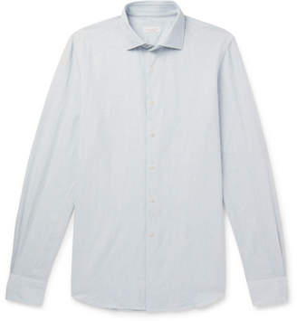 Incotex Ween Slim-Fit Cutaway-Collar Cotton Shirt - Men - Light blue