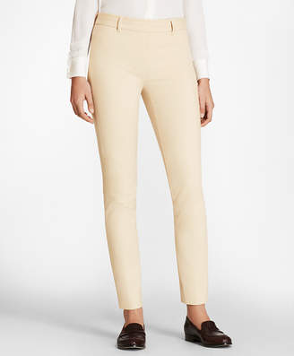 Brooks Brothers Stretch-Cotton Twill Ankle Pants