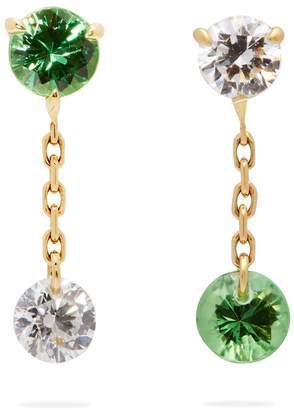 RAPHAELE CANOT Set Free 18kt gold, tsavorite & diamond earrings