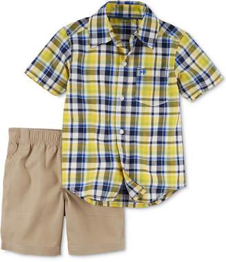 Carter's 2-Pc. Plaid Shirt & Shorts Set, Baby Boys