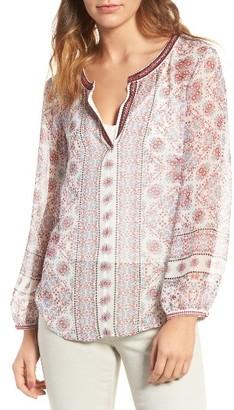 Women's Ella Moss Wayfair Silk Blouse $168 thestylecure.com