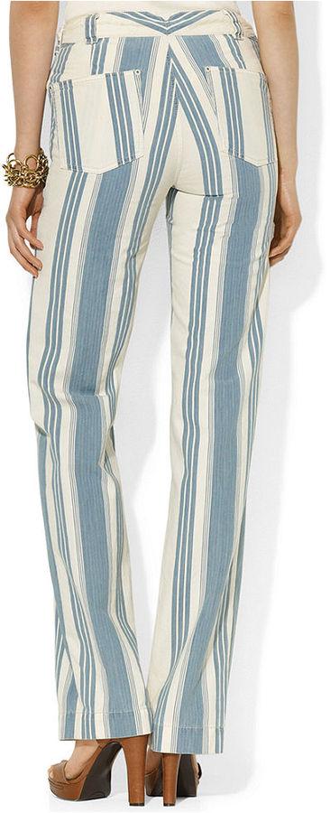 Lauren Ralph Lauren Pants, Wide-Leg Striped Drawstring