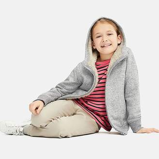 Uniqlo Kid's Pile-lined Sweat Long-sleeve Full-zip Hoodie