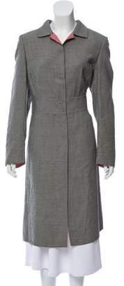 Akris Houndstooth Long Coat