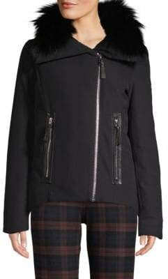 Derek Lam 10 Crosby Fox Fur-Trimmed Down Jacket
