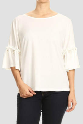 Blvd Pearl Sleeve Blouse