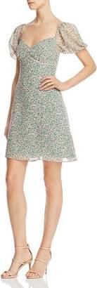 Fame & Partners Puffed-Sleeve Flared Dress