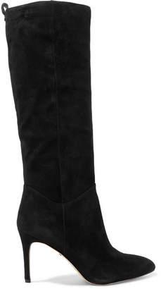 Sam Edelman Olen Suede Knee Boots - Black