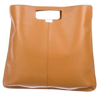 Rochas Grained Leather Satchel
