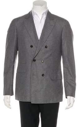 Brunello Cucinelli Deconstructed Cashmere & Silk Blazer