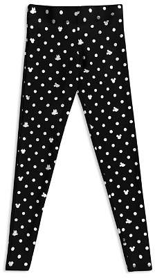 Terez Girls' Disney x Terez Mickey Mouse & Minnie Mouse Polka Dot Foil Leggings - Little Kid, Big Kid