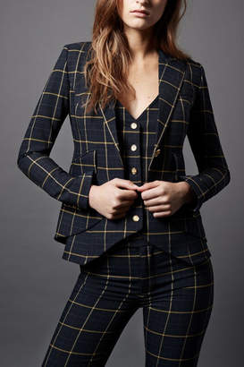 Smythe One-Button Checks Blazer