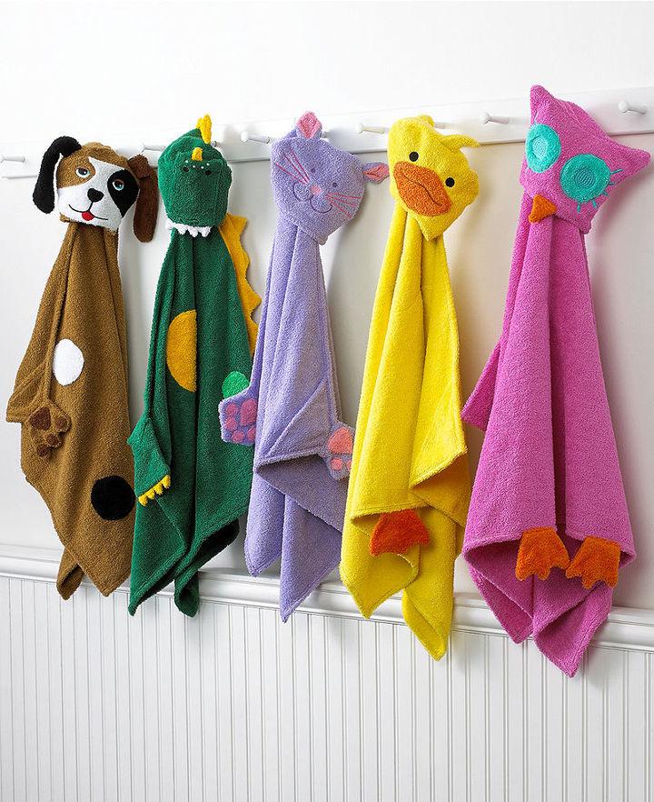 Jay Franco Bath Towels, Kids Hooded Animal Wraps