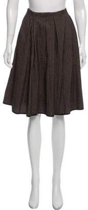 Louis Vuitton Pinstripe A-Line Skirt
