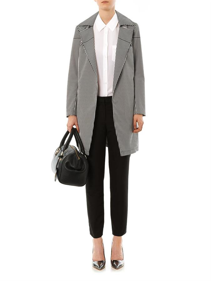 Equipment Reese contrast-panel blouse