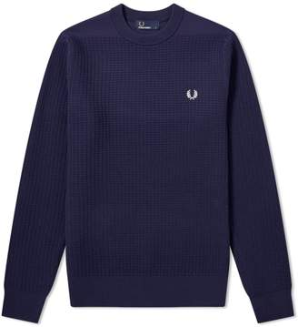 Fred Perry Authentic Waffle Crew Neck Jumper
