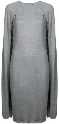 Ralph Lauren jersey cape dress