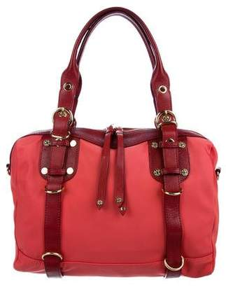 MZ Wallace Leather-Trimmed Nylon Satchel