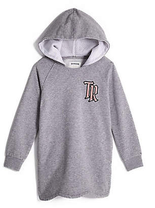 True Religion TODDLER/BIG KIDS GIRLS EMBROIDERED HOODIE DRESS