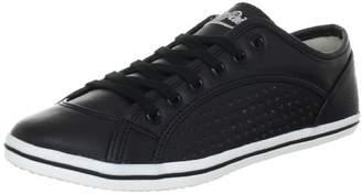 Buffalo David Bitton Women's 507-V9987 TUMBLE PU Low-Top Sneakers Black Size: 4