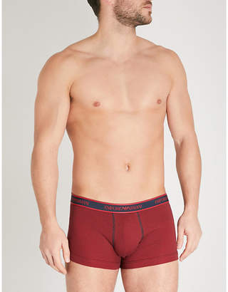 Emporio Armani Pack of two slim-fit stretch-cotton trunks