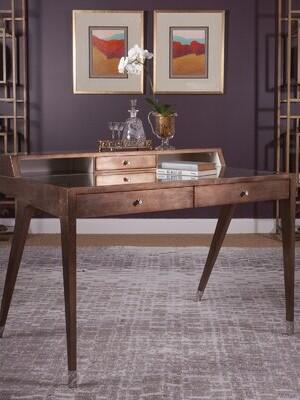 Artistica Home Signature Designs Glass Writing Desk Home