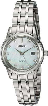 Citizen Women's 'PAIRS' Quartz Stainless Steel Casual Watch, Color:-Toned (Model: EW2390-50D)
