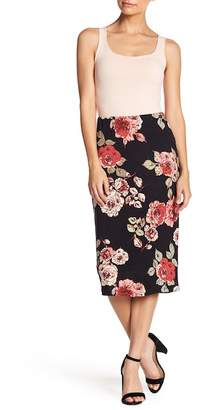 Bobeau Knit Midi Pencil