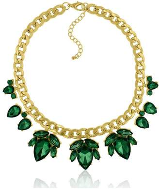 Passiana Emerald Floral Necklace