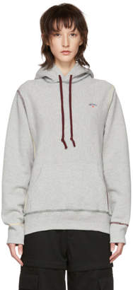 Noah NYC Grey Multicolor Stitch Hoodie