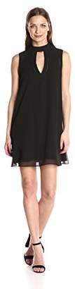 BCBGeneration Women's a-Line Dress with Mock Neck