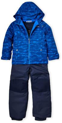 Columbia Boys 4-7) Two-Piece Camouflage Hooded Coat & Snow Bib Set