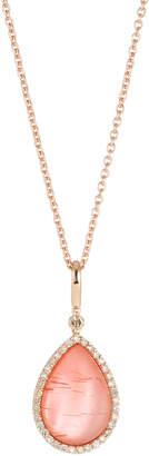 Roberto Coin 18k Agate & Diamond Teardrop Pendant Necklace