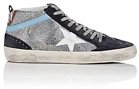 Golden Goose Women's Mid Star Suede Sneakers - Silver