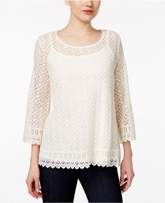 Style & Co Bell-Sleeve Lace Top, Only at Macy's $54.50 thestylecure.com