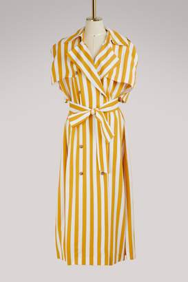 Maison Margiela Striped trench dress