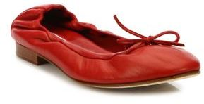 Manolo Blahnik Tobaly Leather Ballet Flats $550 thestylecure.com