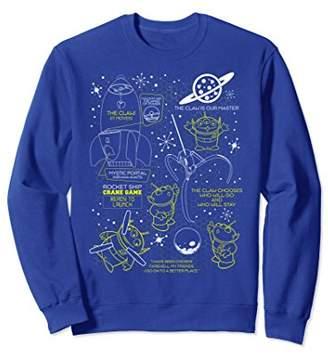 Disney Pixar Toy Story Alien Claw Master Map Sweatshirt