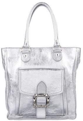 Dolce & Gabbana Metallic Leather Top Handle Bag