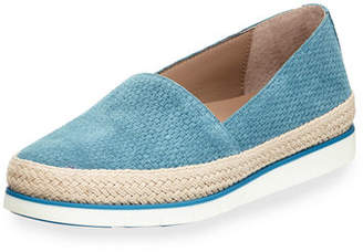 Donald J Pliner Palm Perf Suede Slip-On Sneakers