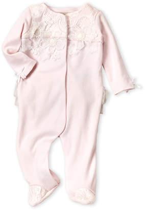 Baby Essentials Miniclasix (Newborn Girls) Floral Applique Footie