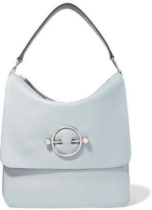 J.W.Anderson Disc Leather And Suede Shoulder Bag - Light blue