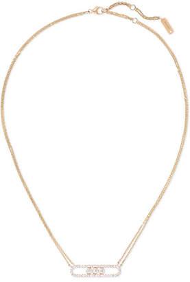 Möve Messika 18-karat Rose Gold Diamond Necklace