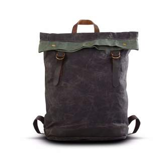 EAZO - Waxed Canvas Folded Top Backpack Grey