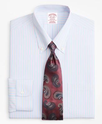 Brooks Brothers Madison Classic-Fit Dress Shirt, Non-Iron Alternating Split Stripe