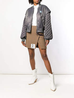 Off-White Off White Quilted baloon sleeve bomber jacket
