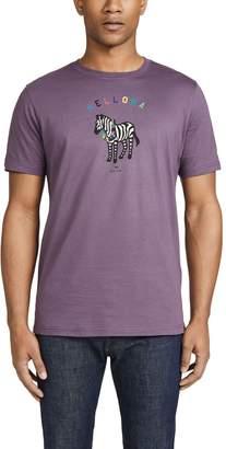 Paul Smith Short Sleeve Aloha Zebra Tee Shirt