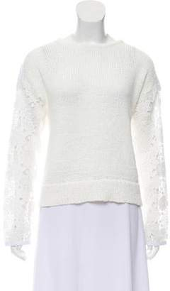 722fe50505 Pre-Owned at TheRealReal · White + Warren Lace Knit Sweater