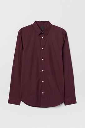 H&M Slim Fit Easy-iron Shirt - Pink