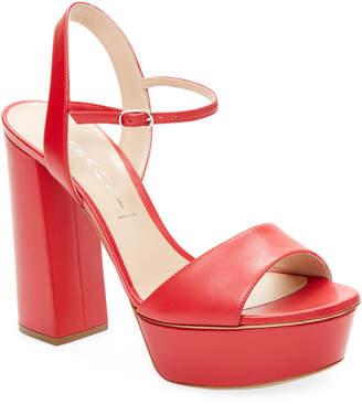 Casadei Leather Platform Sandal